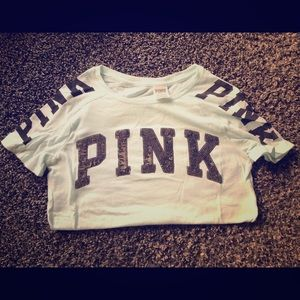 Pink Victoria's Secret Fitted Bling Tee